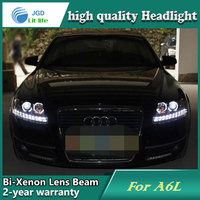 Car Styling Head Lamp case for Audi A6L 2005-2008 Headlights LED Headlight DRL Lens Double Beam Bi-Xenon HID Accessories
