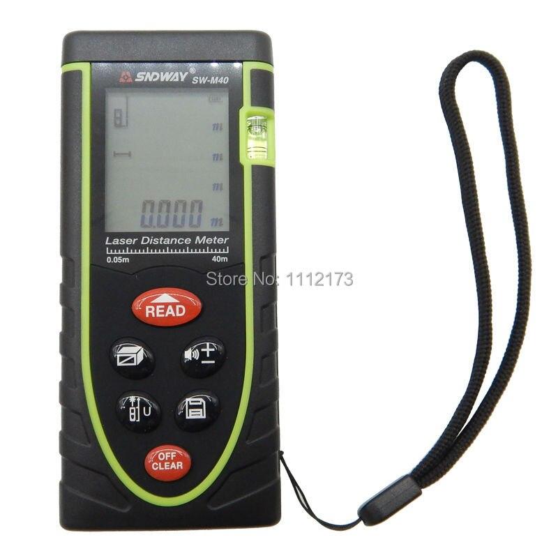 Digital laser distance meter 40m/60M/80M/100M SW-M40 SNDWAY rangefinder Bubble Level Range Finder Tape Measure Area/Volume