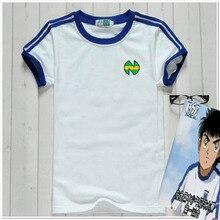 Captain Tsubasa Abito in Jersey di Calcio Uniforme tessuto asciutto Rapido Del Capretto formato Adulto Cosplay Costume T Shirt in cotone