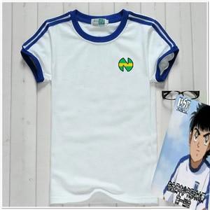Image 1 - Captain Tsubasa Jersey Football Suit Uniform Quick dry fabric Kid Adult size Cosplay Costume cotton T shirt