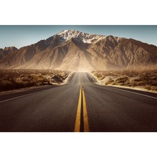 Laeacco Mountain Road Expressway Plain Wilderness Aurora Photography Backdrop Photographic Backgrounds Photocall Photo Studio