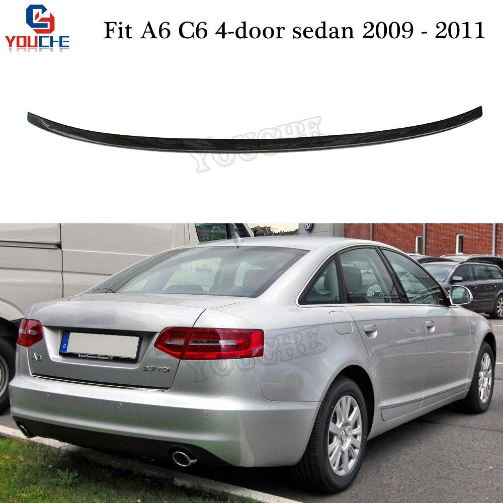 A6 Carbon Fiber Rear Spoiler Trunk Wing For Audi A6 C6 4