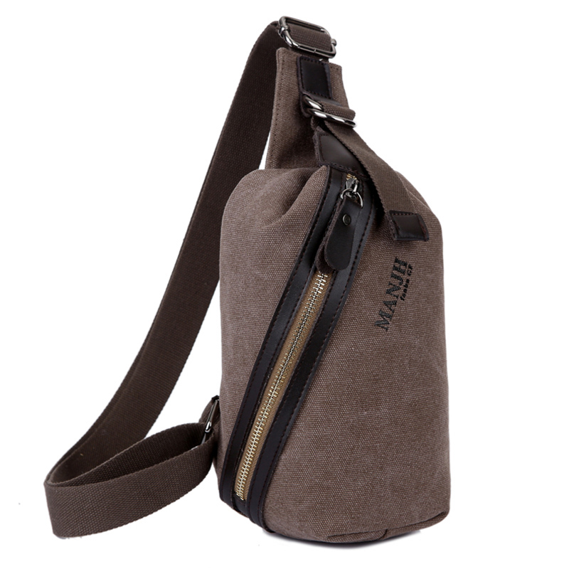 Fashion Men Messenger Crossbody Bag Canvas Vintage Shoulder Sling Bag Casual Small Chest Bag For Men Leisure Women Handbag 1269 men canvas small sling chest pack handbag vintage shoulder crossbody bag function small men messenger bags grey 19 8 25 cm