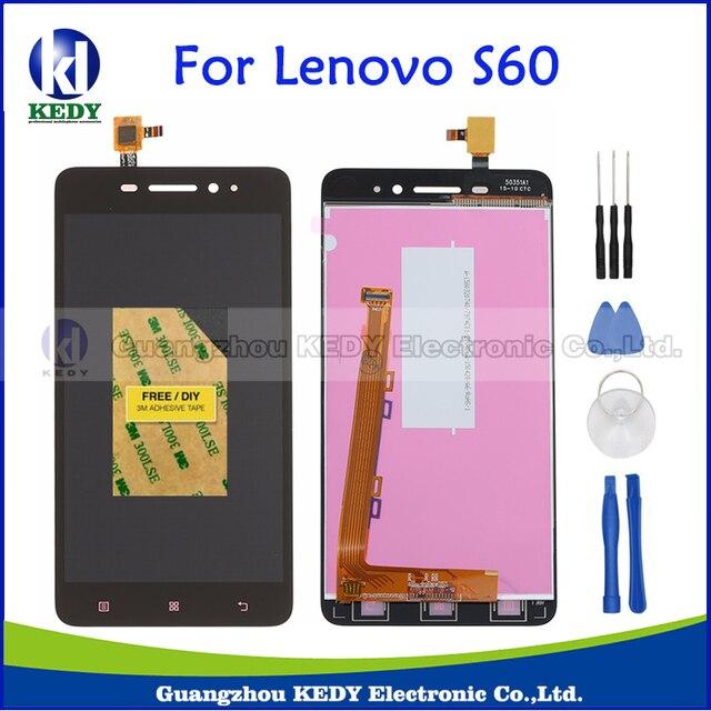 Lcd original para lenovo s60 s60a s60-w s60-t s60-un piezas de repuesto asamblea de pantalla lcd de panel táctil s60t s60w s60a + herramienta
