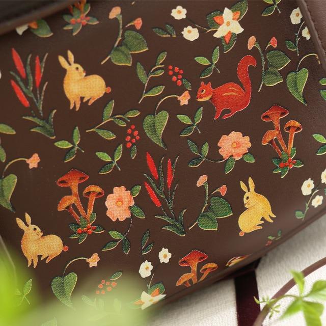 MSMO 2017 ENSSO Fashion Women Saddle Bag Vintage Embroidery PU Leather Shoulder Bag 3 Ways Used Handbag Back pack Crossbody Bag
