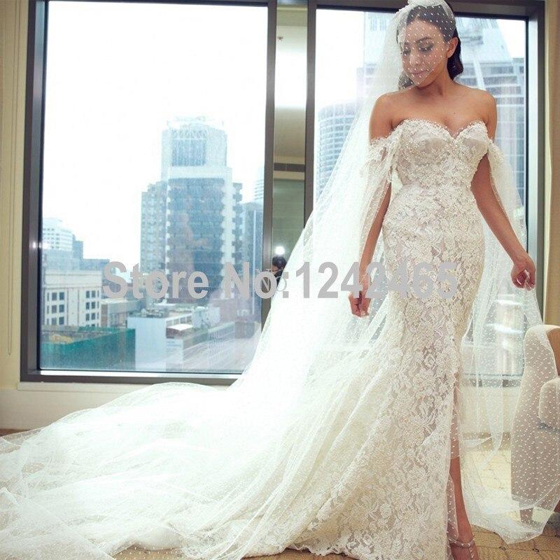 explore slit wedding dress
