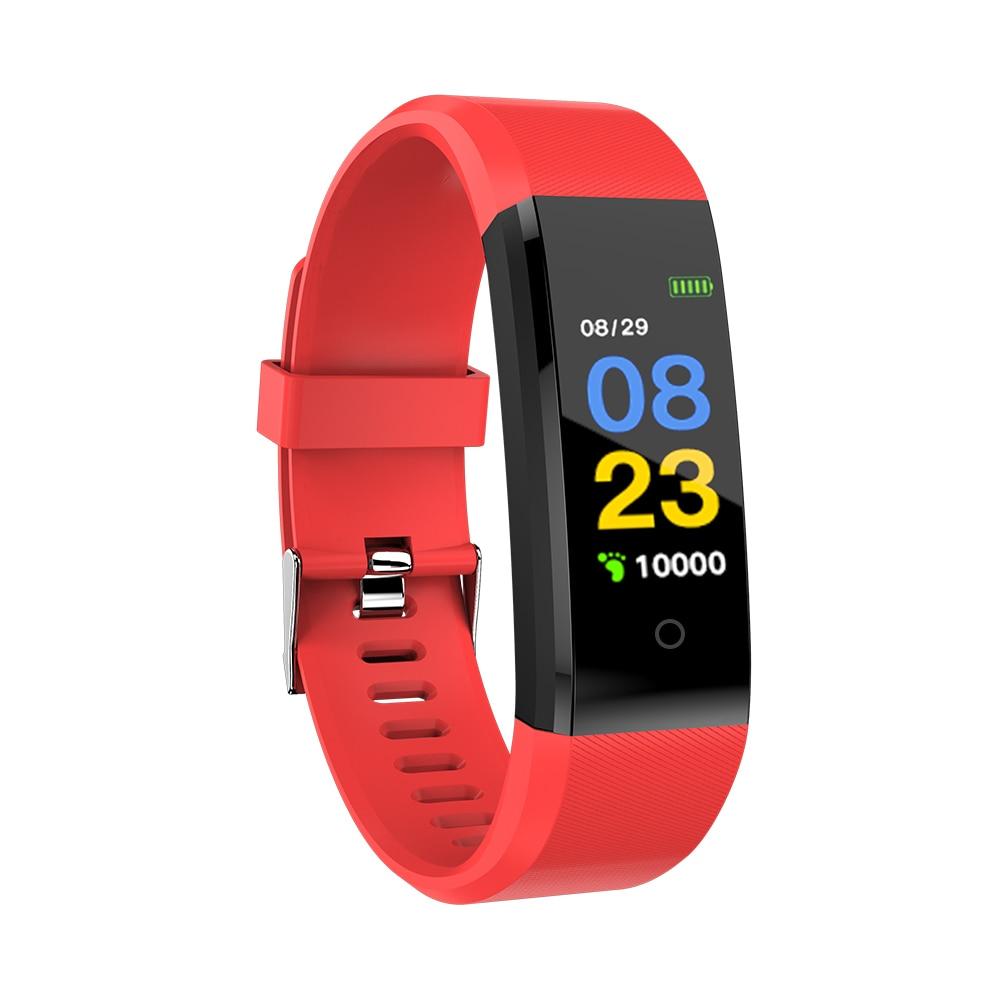Human Body Sensor Smart Bracelet Sport Fitness Tracker TFT Display Heart Rate Sleep Monitor Call Reminder Pedometer Wristband