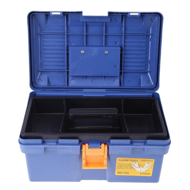 Multi-Function Toolbox Home Vehicle Maintenance Hand-Held Art Hardware Storage Box Repair Tool Box Case Caixa De Ferramentas