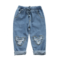 Menoea Boys Jeans 2017 Spring Girls Jeans Kids Pants Cartoon Pattern Cute Design Children S Denim