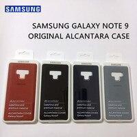 Оригинальный официальный samsung Galaxy Note 9 роскошные кожаные Алькантара Чехол замша полный защитный чехол для телефона SM-N9600 анти-полный