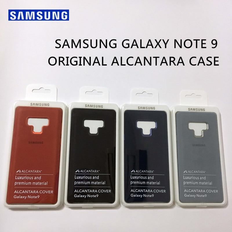 Funda de cuero de lujo Original oficial Samsung Galaxy Note 9 funda de gamuza de protección completa para teléfono SM-N9600 Anti-Full