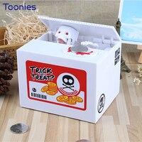 Licht Skelette Sparschwein Ghosts Weihnachten Geld Box Einzigartige Schädel Kopf Münze Dosen Stromsparende Box Halloween Kind Geschenk Puppen
