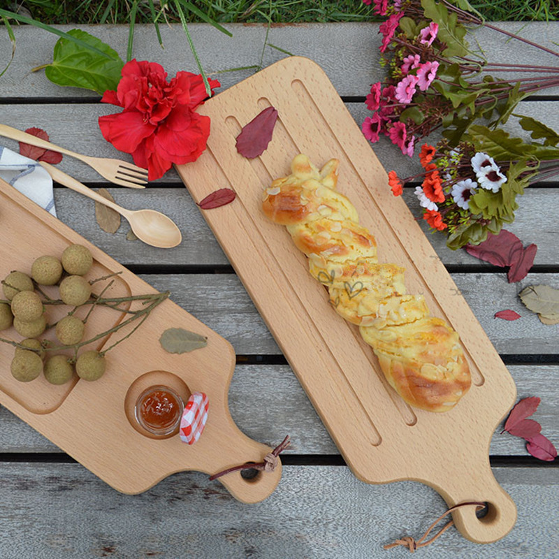 Beech Wood Multi-Use Cutting Board/Chopping Block Baking Tool Pizza Peel Pizza Pad Eco N ...