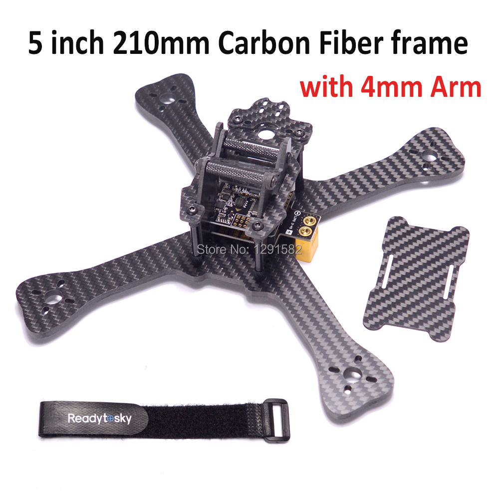 Mini 210 210mm 5 inch Quadcopter frame with 4mm arm 3K pure carbon fiber for GEP-TX Better than QAV-X 214Mini 210 210mm 5 inch Quadcopter frame with 4mm arm 3K pure carbon fiber for GEP-TX Better than QAV-X 214