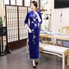 New Arrival Women S Long Cheongsam Fashion Chinese Velour Dress Elegant Slim Qipao Vestidos Plus Size