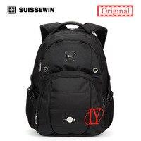 새로운 suissewin 높은 품질의 디자이너 브랜드 15.6 인치 방수 남성 여행 야외 스포츠 학교 노트북 배낭 sn8071