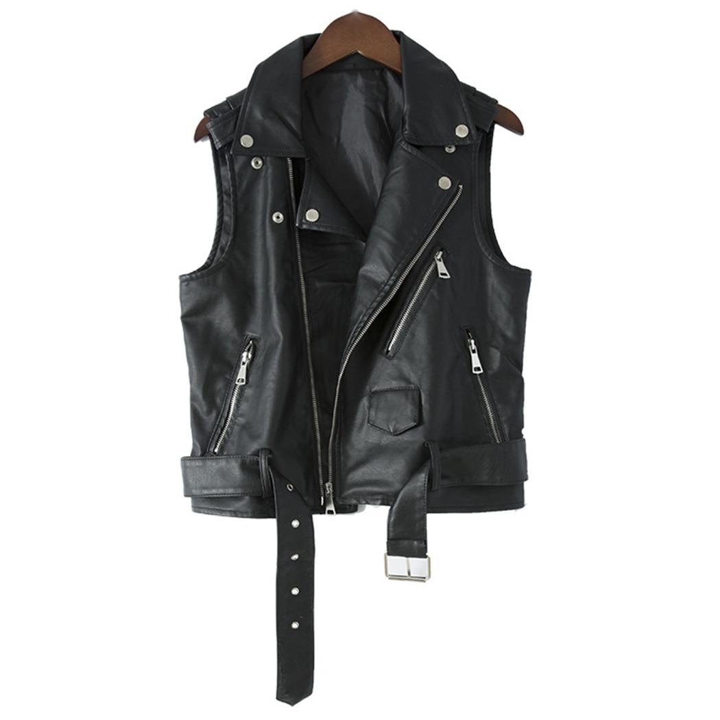 Vests Men's Clothing Intelligent Plus 3xl Mens Motorcycle Vest Pu Leather Waistcoat 2017 Spring Sleeveless Black Jacket With Pocket Latest Fashion