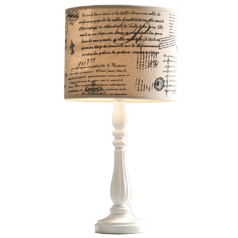 Hot Sale American Style Rural Garden Style Resin Table Lamp Shade Linen For Home Decoration 2 Shade Styles for Choice 52x26cm