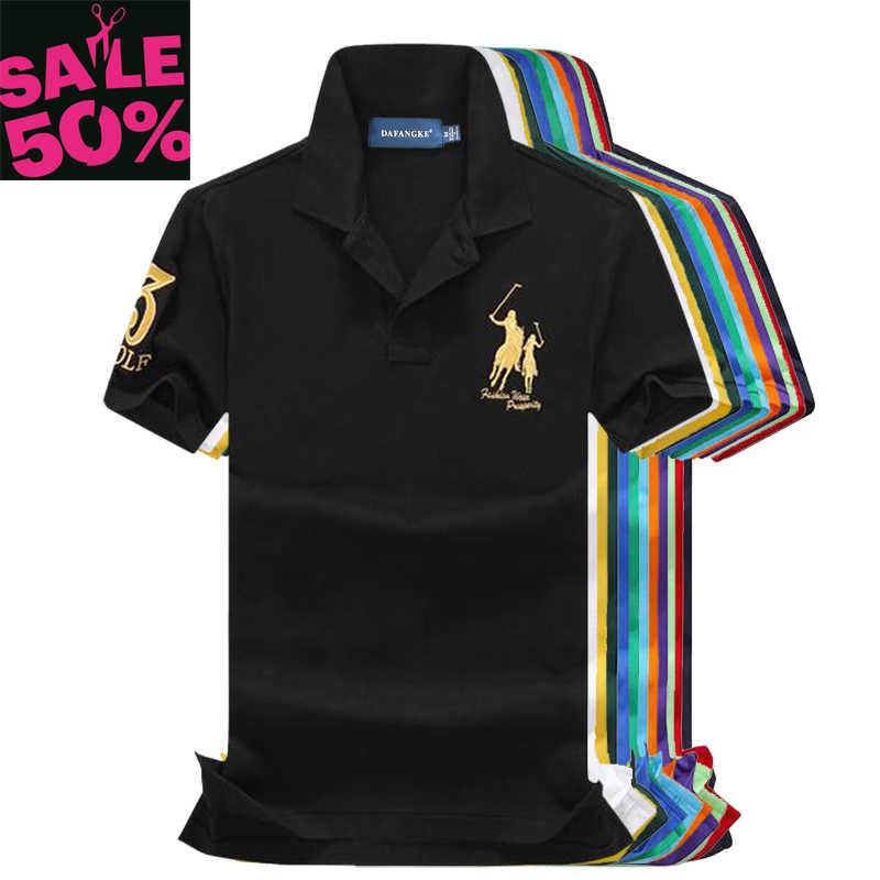 3f9abca0 On sale 100% pique cotton 2019 Summer Big horse men short sleeve polos mens  shirts
