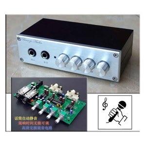 Image 4 - KYYSLB Home Audio op amp NE5532 Preamplifier OF1 TP2399 HD Digital amplifier Karaoke Board Pre level  with Microphone input