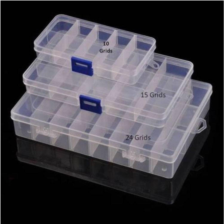 New 8 / 15 / 24 Grids DIY Tools Packaging Box Portable Electronic Components Screw Removable Storage Screw Jewelry Tool Case