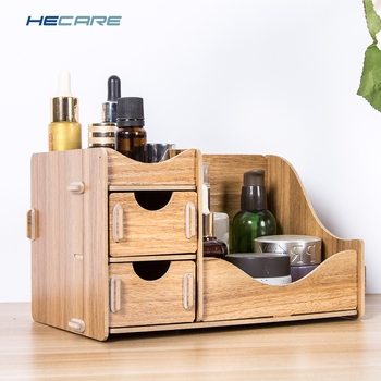 HECARE Wooden Box Storage Box for Cosmetics Wood Makeup Organizer for Storing Cosmetics Storage Organizer Drawer Organizer New 3