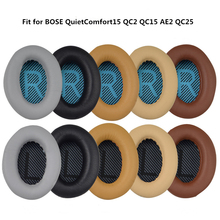 Replacement Earpads Cushion For Bose QuietComfort2 QC2 QC15 QC25 QC35 AE2 AE2i AE2w SoundTrue SoundLink Headphones High Protein 1 pair replacement ear pad ears cup cushion earpads for bose qc15 qc25 qc35 memory foam cushion protein leather for quietcomfort