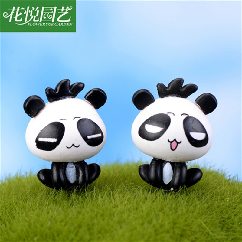 10pcs/lot 2016 <font><b>Creative</b></font> <font><b>Micro</b></font> <font><b>landscape</b></font> decoration moss cartoon panda doll DIY assembly resin <font><b>toy</b></font>