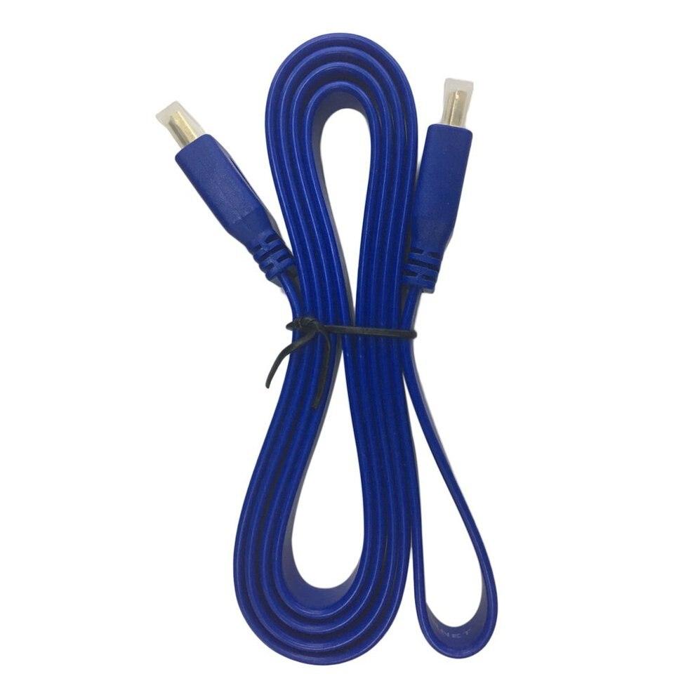 10 pcs 1.5 m Bleu Premium Plat de Nouilles Câble HDMI Haute Vitesse Pour HDMI 3D DVD HDTV