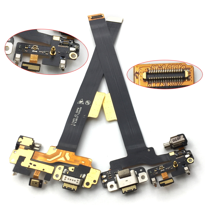 For ZTE Nubia Z11 Mini S NX549j USB Charging Charge Dock Port Microphone Connector Flex Cable Board Phone Replacement