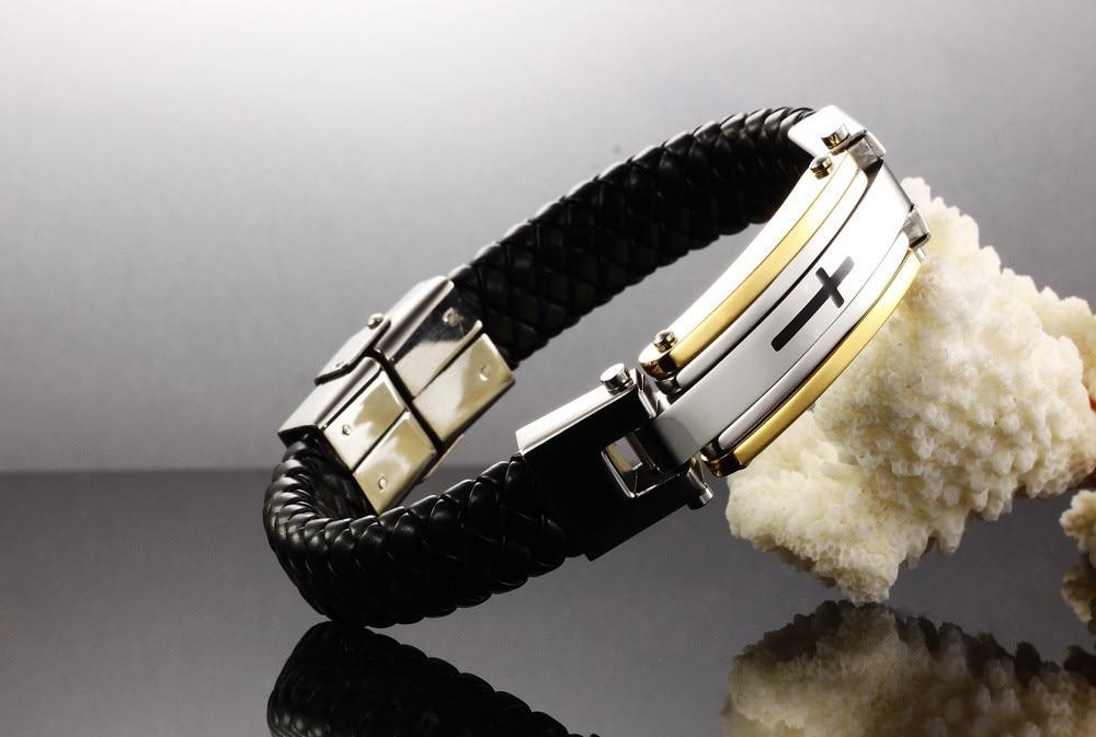 Vintage Leather Wrap Bracelet For Man Fashion Handmade Knitted Bangle - Fashion Jewelry - Photo 4