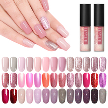 LILYCUTE 5ml Rose Gold Gel Pure Nail Color Bling Glitter Polish Soak Off Shining Art Manicure UV Lacquer