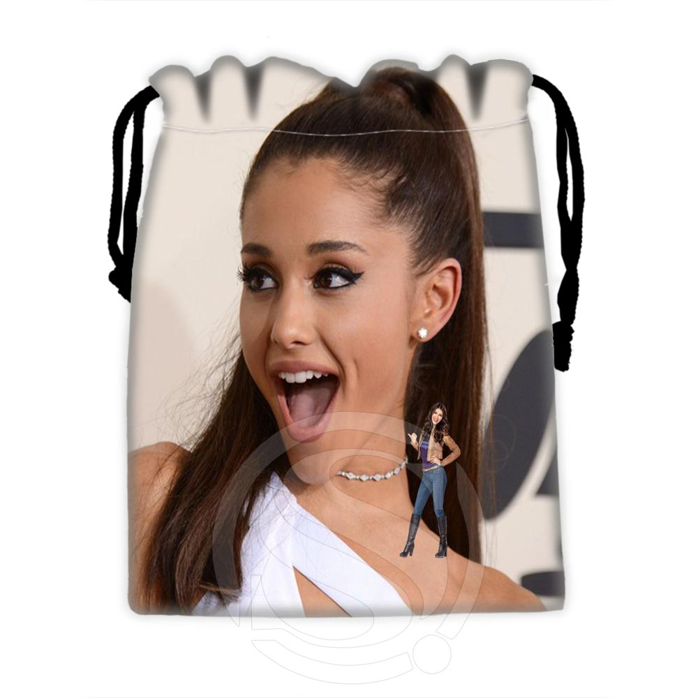 H-P608 Custom Ariana Grande #5 Drawstring Bags For Mobile Phone Tablet PC Packaging Gift Bags18X22cm SQ00806#H0608