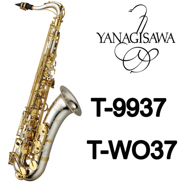 Brand New YANAGISAWA Tenor Saxophone T-9937 T-WO37 Silvering Gold Key Sax Professional Mouthpiece Patches Pads Reeds Bend Neck 2018 japan yanagisawa new tenor saxophone t 992 b flat tenor saxophone gold key yanagisawa sax with accessories professionally