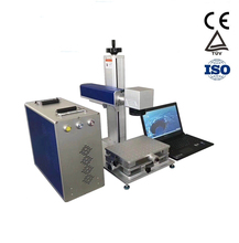 цена на Made in China good quality laser marking machine with fiber laser mental applicated for sale