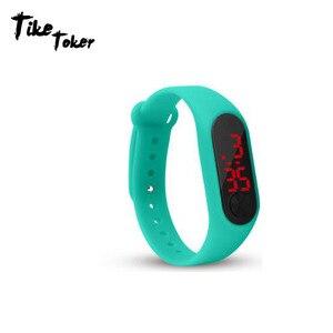 Senior LED Digital Display Men Women Fashion Sport Watches Boy Girl Outdoor Silica gel Bracelet Watch Children Wristwatch Montre