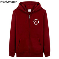Top rate printing fleece BORDERLANDS Fashion Casual style sweatshirts thicker Autumn & Winter hoodies zipper XXXL Red Black tops