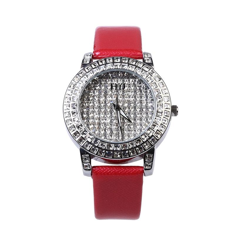 Luxury Brand Watches Analog Stainless Steel Glass Fashion Women Quartz Watch 2016 New Wristwatch 119