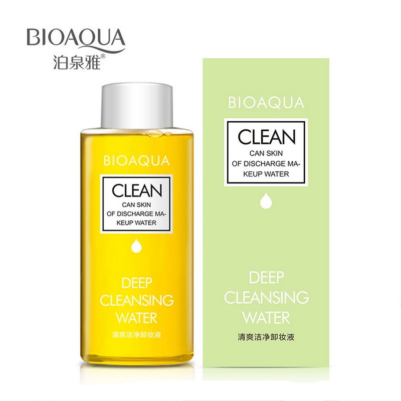 BIOAQUA Olive Deep Cleansing Water Intensive Purify Makeup Remover Oil Soft for Eyes Lips Natural Mild Clean for Face Make up