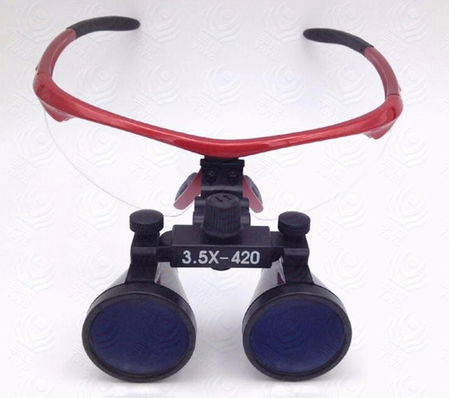 Dental Loupes Surgical Binocular Loupe Magnifier Glasses 3.5x Plastic frame with antifog