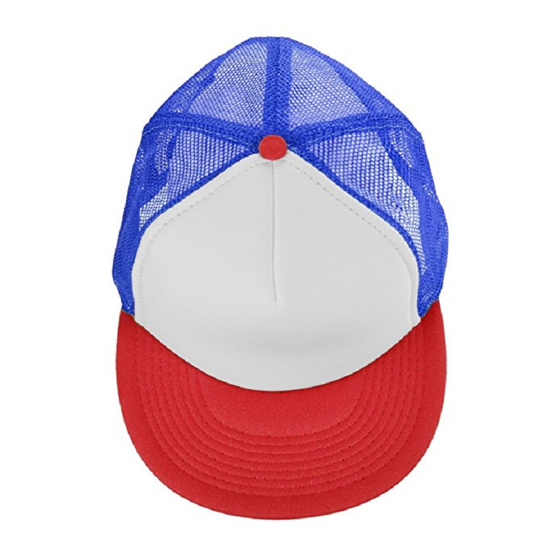 Dustin Hat Stranger Things Cap Summer Baseball Mesh Cap Adjustable Snapback  Strap Net Trucker Hat Cap unisex Cosplay Coser -in Baseball Caps from  Apparel ... e93c15885f00