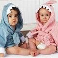 100% algodón bebé con forma de animales con capucha para niños albornoz / bebé albornoz / baño del bebé toalla / mantas / espera neonatal a-ser venta al por mayor