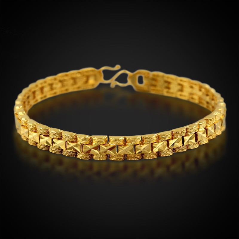 Bracelet Women Jewelry 6.5MM Pulseira Mujer Trendy Gold Color 18CM Chain Link Bracelet Wholesale Braslet For Woman P252