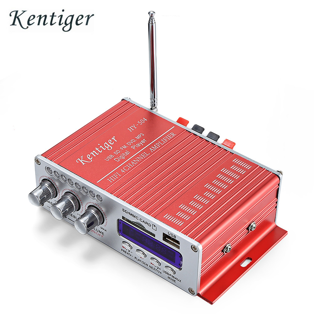 Hot Sale Kentiger Hy 504 Hifi 4 Channel Stereo Audio Remote Control 40w Amplifier Based On Tda1514 Tow Main Output Ic For Circuit Design