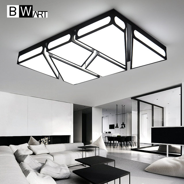 BWART Modern Led Ceiling Lights For Living Room Study Room Bedroom Home remote control dimmable Modern Led Ceiling Lamp