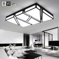 Bwart современные светодиодные Потолочные светильники для Гостиная кабинет Спальня дома пульт дистанционного управления затемнения совреме