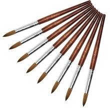 Eval 8 # Sable Pennello Strumento Chiodo Acrilico Del Chiodo di Kolinsky Gel UV Acrilico Unghie artistiche strumento