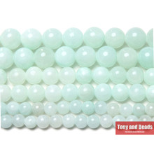 "Free Shipping New Arrival Ice Blue Persian Jades Gem Beads 15"" Strand 6 8 10mm Pick Size For Jewelry Making(China)"