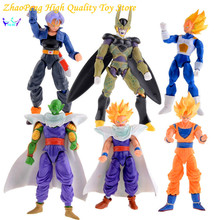 Free Shipping New Dragonball Z Dragon Ball DBZ Anime Joint Movable Action Figure Toy 6pcs/Set 16CM FB288
