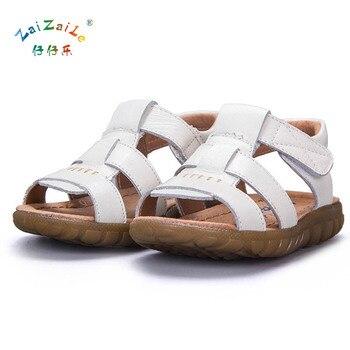 AFDSWG kids summer sandals100% leather girls leather sandals white kids beach sandals black kids sandals boys  princess sandals leather sandals boys 2020 100